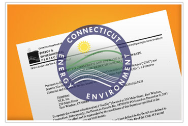 A preview of the permit to operate. NLR is permitted to operate our recycling facilities through Connecticut DEEP.